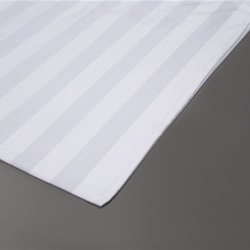 Picture of White Sateen Sheets - 3cm Stripe