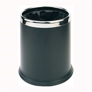 Picture of Dual Layer Black Rubbish Bin
