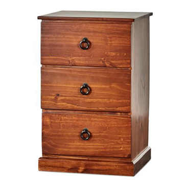 Picture of Pinehurst 3 Drawer Bedside Table
