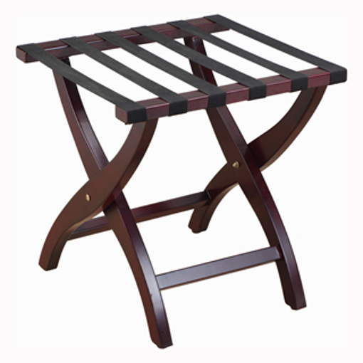 Picture of Elite Wooden Luggage Rack - Mahogany Look