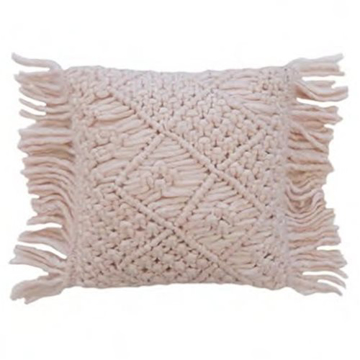 Picture of Pink Knit Rectangle Cushion