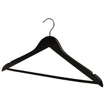 Picture of Black Lotus Wood Coat Hanger