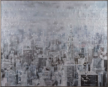 Picture of Skyscrapers In The Snow Canvas