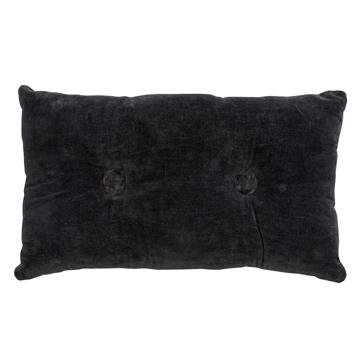 Picture of Velvet/linen Rectangle Cushion - Black