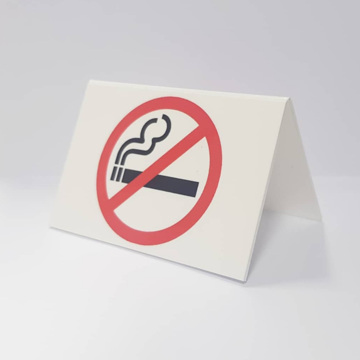 Picture of No Smoking Sign - Red/White