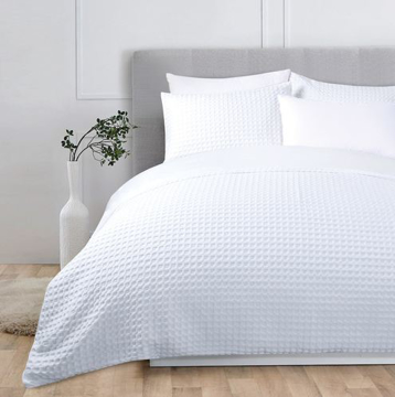 Picture of White Waffle Duvet Cover Sets