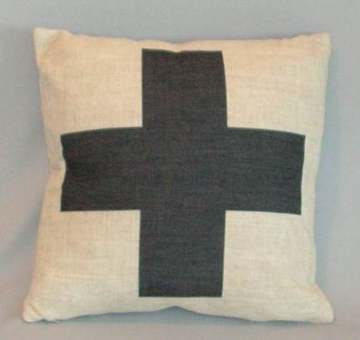Picture of Black Cross Cushion