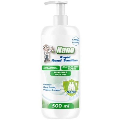 Picture of Nano Hand Sanitiser  75% 500ml Pump