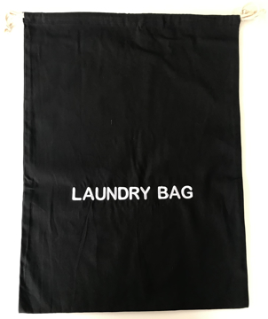 Picture of Black 100% Cotton Laundry Bag