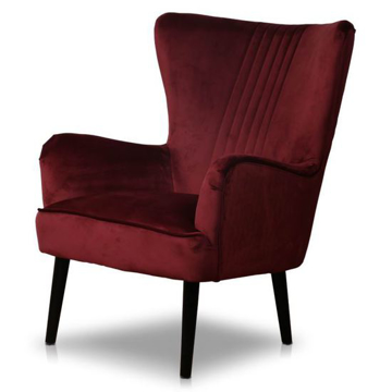 Picture of Astana Chair- Merlot Red Velvet