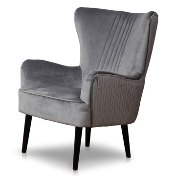 Picture of Astana Chair- Stone Grey Velvet