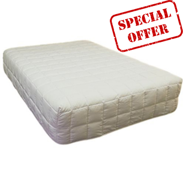 Picture of Microfibre Boxed Corner Quilt - White (300gsm)