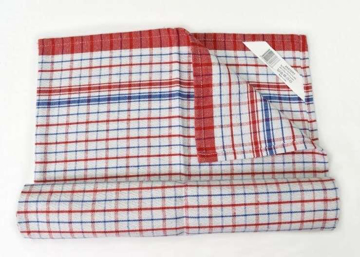 Picture of Fast Dry Tea Towel - Red/Blue